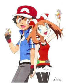 Ash and May ♡ I give good credit to whoever made this