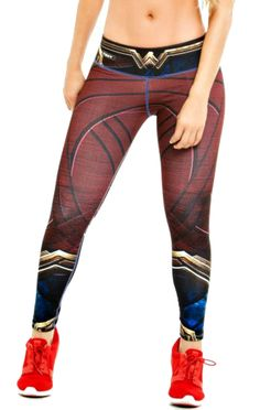 These Wonder Woman Super Hero Leggings from Fiber are great for working out, casual wear or even dressing up for Halloween. You will love these exclusive leggings that are made from the highest qualit Yoga Workout Clothes, Workout Leggings, Workout Clothing, Printed Leggings, Women's Leggings, Cheap Leggings, Leggings Store, Superhero Leggings, Video Blog
