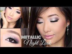 ▶ PURPLE + PEWTER METALLIC NIGHT LOOK | Drugstore Eye Makeup Tutorial | hollyannaeree ♡ - YouTube