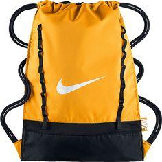 Image of Nike Brasilia 7 Gymsack Volt/Black/White - Nike School & Day Hiking Backpacks Rucksack Bag, Backpack Bags, Drawstring Backpack, Orange Backpacks, Nike Backpacks, Yellow Backpack, Nike Bags, Gym Bags, Orange Bag