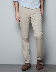 chinos with faux leather patch trousers man new