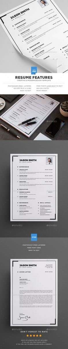 Clean Cv \/ Resume Cv resume template, Cv ideas and Cv design - clean resume template