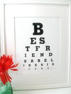 Best Friend Craft Ideas | Friend Birthday Gifts Best Friends are Like by Eyecharts on Etsy, $15 ...