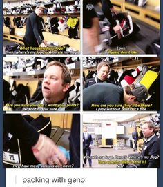 Evgeni Malkin. This was the funniest In the Room episode ever!