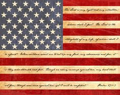 Mama Bear Gets Chatty: American Flag Print With Bible Verse