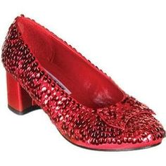 Funtasma Dorothy-01 Dorothy Halloween Costume Shoes Red and Silver Sequin