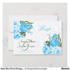 Wedding Rsvp, Wedding Paper, Wedding Anniversary, Zazzle Invitations, Wedding Invitations, My Design, Floral Design, Pretty Baby, Response Cards