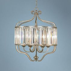 "Soft Silver 6-Light 22"" Wide Crystal Chandelier | LampsPlus.com  Unusual design"
