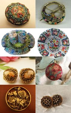 The Jewelry Cabinet is Full of Wonderful Finds  by ElizaBella Designs on Etsy--Pinned with TreasuryPin.com