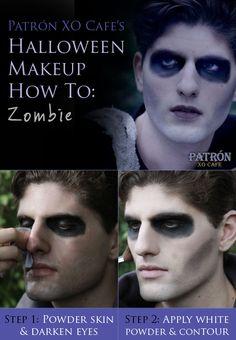 Patrón XO Cafe's Halloween Makeup How To: Zombie #costumes #zombie #makeup #halloween