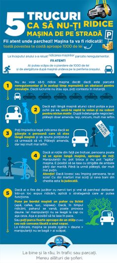 5 trucuri ca sa nu-ti ridice masina de pe strada - Infografice RCA-Ieftin. Infographic, Infographics, Visual Schedules