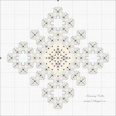 Humming Needles: Snowflake Ornament Pattern --back