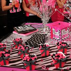 Pink and zebra grad party
