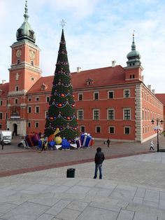 Warszawa Warsaw Варшава Warschau 華沙. Plac Zamkowy. Choinka Christmas 2012