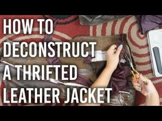 DiaryofaCreativeFanatic: DIY- Restyle   Leather Jackets to Bags