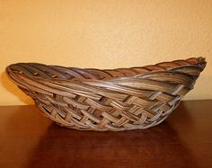 Basket/OVAL/WICKER/NATURAL/Vintage