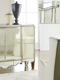 THE WELL APPOINTED HOUSE - Luxury Home Decor- Mirrored Sideboard Cabinet - Cupboards, China Cabinets & Buffets - Furniture
