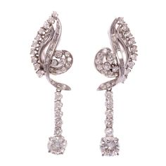Lot: PAIR GOLD & DIAMOND DROP EARRINGS, Lot Number: 0027, Starting Bid: $375, Auctioneer: Richard Opfer Auctioneering, Inc., Auction: ANTIQUE & ESTATE AUCTION, Date: May 25th, 2017 CEST