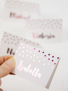 Download a free place card SVG cut file and learn how to make these snazzy diy place cards, which are foiled using the Heidi Swapp Minc.