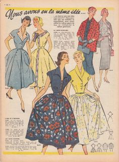 A Few Threads Loose: Sew French... March, 1956  Shirtwaist buttons