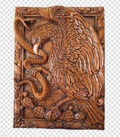 escudo de mexico talla en cedro
