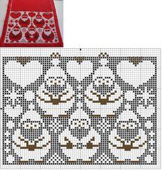 The photo – knitting charts Knitted Mittens Pattern, Fair Isle Knitting Patterns, Fair Isle Pattern, Knitting Charts, Knitting Stitches, Knit Patterns, Cross Stitch Christmas Stockings, Xmas Cross Stitch, Christmas Cross