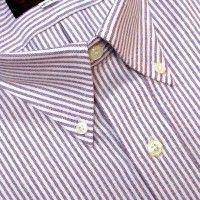 f59cec9118 O'Connell's Button Down Dress Shirt - Heavyweight Oxford Cloth University  Stripe - Purple