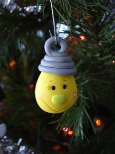 Whimsical CHRISTMAS LIGHT BULB Polymer Clay by KatersAcres on Etsy, $5.00  #Polymer #clay