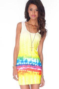 tie dye dress!!    Dye Trying Tank Dress $34 at www.tobi.com