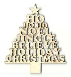 Christmas Tree - Laser Cut Wood Shape – The Wood Shape Store Laser Cut Wood, Laser Cutting, Christmas Decorations, Christmas Tree, Christmas Ornaments, Shape Crafts, Unfinished Wood, Art Studios, Wood Crafts