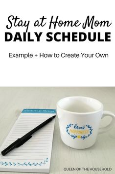 Lokking for a stay at home mom daily schedule? Read this example routine for mom Lokking for a stay at home mom daily schedule? Read this example routine for moms. Plus learn how to create your own st Daily Schedule For Moms, Daily Routine For Women, Mom Schedule, Toddler Schedule, Daily Schedules, Cleaning Schedules, Daily Routines, Cleaning Checklist, Daily Checklist