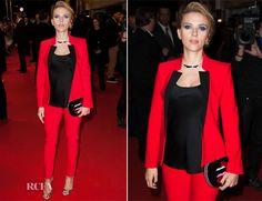 Scarlett Johansson In Michael Kors  –  'Captain America: The Winter Soldier' Paris Premiere
