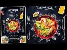Flyer Design Inspiration, Restaurant Flyer, Restaurant Design, Photoshop Design, Sport Flyer, Photoshop Tutorials Youtube, Promo Flyer, Spanish Paella, Food Graphic Design