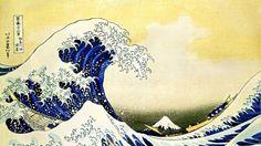 Обои Японский рисунок. Рисунок, волны, Япония, шторм.