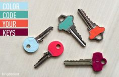 And then never spend another extra second fumbling for the right key. | 21 Amazingly Easy 5 Minute DIY Projects