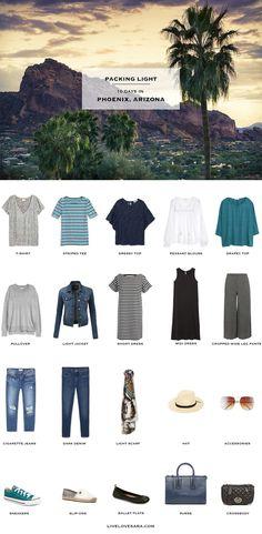 What to Pack for Phoenix Arizona Packing Light List #packinglist #packinglight #travellight #travel #livelovesara