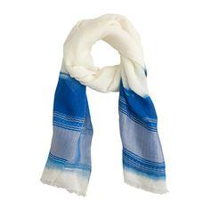 linen dip dye scarf
