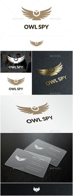 Owl Spy  Logo Design Template Vector #logotype Download it here: http://graphicriver.net/item/owl-spy-logo/14511012?s_rank=314?ref=nexion