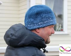 Vinterlue med stor V Winter Hats, Beanie, Beanies, Beret