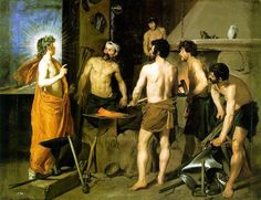 The forge of #Vulcan by Diego #Velázquez. http://it.wikipedia.org/wiki/File:Diego_Velasquez,_The_Forge_of_Vulcan.jpg