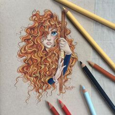 Me as a girlfriend, dreamworks, pencil drawings, art drawings, princesa mer Disney And More, Disney Love, Disney Art, Merida, Hobbit, Line Doodles, Arte Sketchbook, Disney Drawings, Drawing Disney