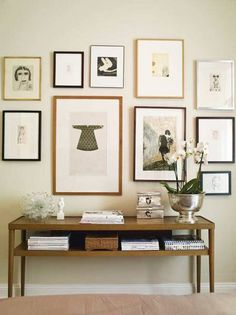 art wall + sideboard love