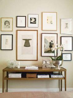 art wall + sideboard love