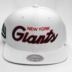 MITCHELL & NESS NEW YORK GIANTS NFL THROWBACKS All White SNAPBACK