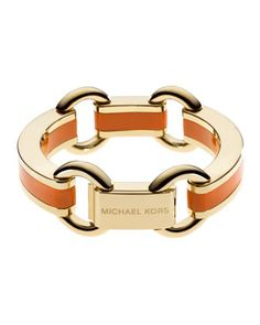 Michael Kors Link Bracelet, Golden/Orange.