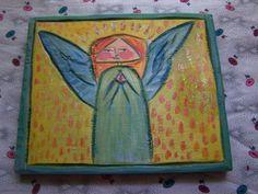 Primitive Folk Art Angel Wood Carving | eBay