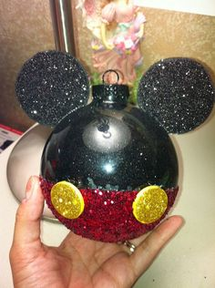 DIY Mickey Mouse Ornament easy kids craft looks store bought. Gift for friend teacher gifts kids craft Christmas Crafts Christmas tree ideas Christmas gift ideas DIY Christmas decorations Mickey Mouse Christmas Tree, Mickey Mouse Ornaments, Mickey Mouse Crafts, Disney Christmas Decorations, Christmas Ornament Crafts, Diy Christmas Gifts, Christmas Bulbs, Diy Ornaments, Disney Holidays