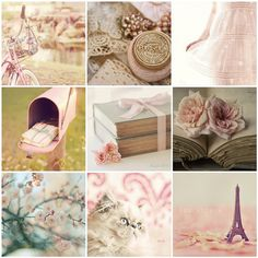 vintage pink collection [love the pics] Shabby Chic Pink, Shabby Chic Decor, Kitsch, Beautiful Collage, Colorful Roses, Everything Pink, Color Rosa, Pretty Pastel, Pretty Flowers
