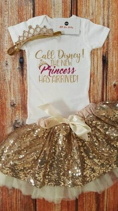 Baby Girl Clothes, Call Disney The New Princess Has Arrived! Bodysuit Check out this item in my Etsy Baby Outfits, Children's Outfits, Neue Outfits, Stylish Outfits, Baby Girl Fashion, Kids Fashion, Toddler Fashion, Cheap Fashion, Funny Baby Clothes