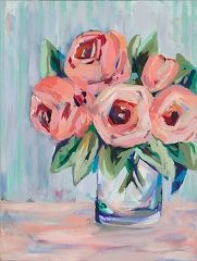 Art Gallery at Maine Cottage | Bright Blooms by Kim Hovell